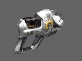 Sci Fi handgun 3d preview