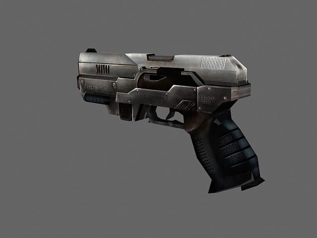 Desert eagle pistol concept 3d rendering