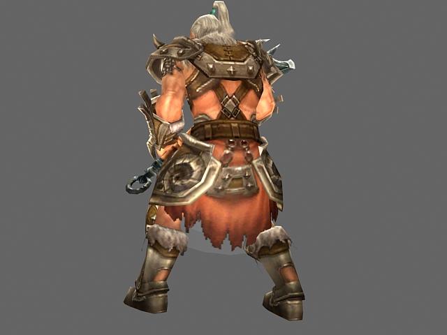 Diablo III Barbarian male 3d rendering