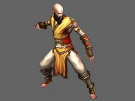 Diablo III character - Monk Male 3d model preview