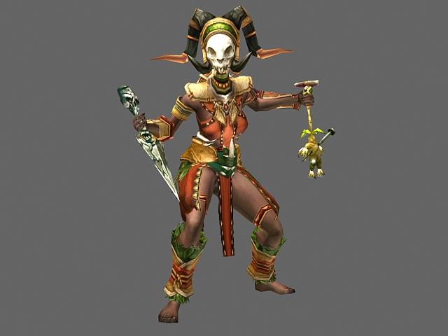 Diablo Iii Character Witch Doctor Female 3d Model Cadnav