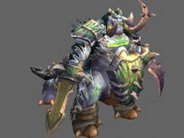 WoW raid boss Brutallus 3d model preview