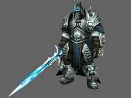 WoW - The Lich King Arthas Menethil 3d preview