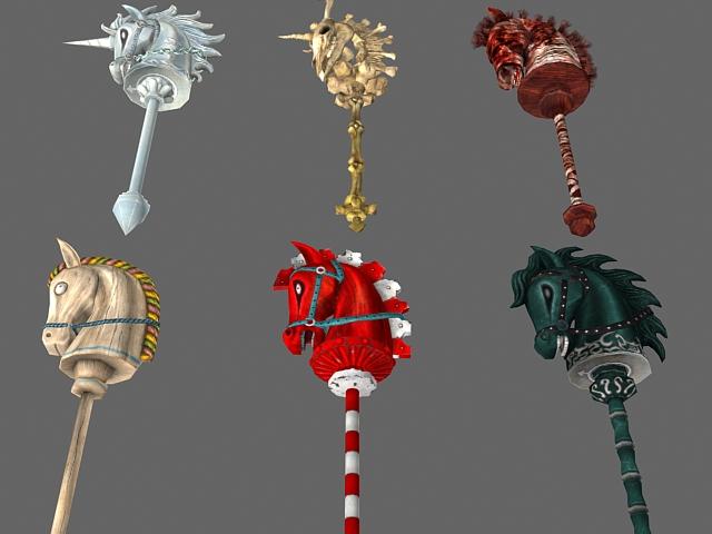 Hobby horse toys 3d rendering