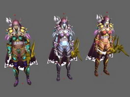 WoW Character - High Elf Sylvanas Windrunner 3d preview