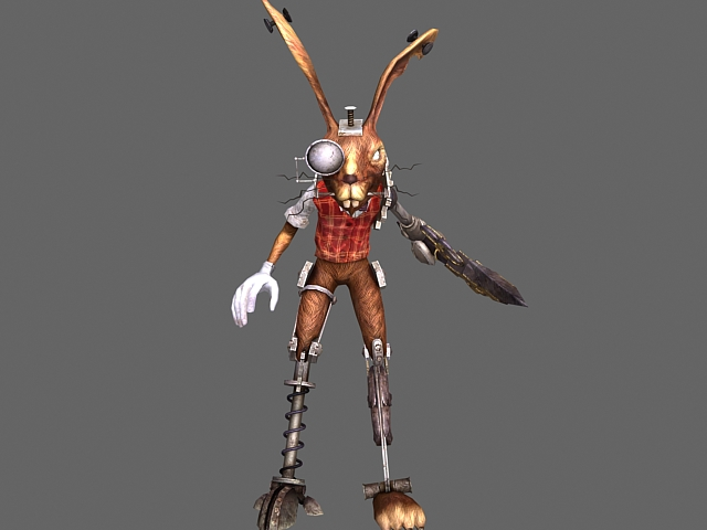 March Hare in Alice Madness Returns 3d rendering
