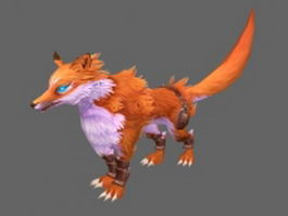 Animated fox 3d model preview