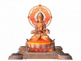 Female buddha statue 3d preview