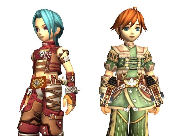 Fantasy boy warrior 3d rendering