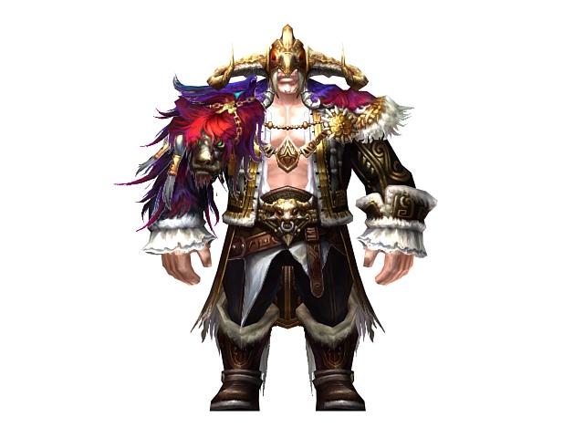 Half giant warrior 3d rendering