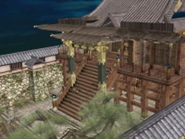 Honnoji Temple 3d preview