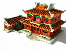 Ancient Chinese fantasy house 3d preview