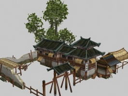 Ancient Chinese inn 3d preview