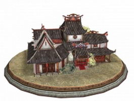 Ancient Chinese buildings 3d preview