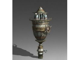 Old water tower 3d preview