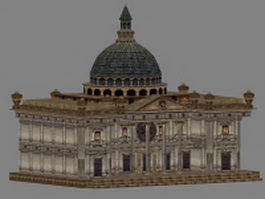 Old castle mansion 3d preview