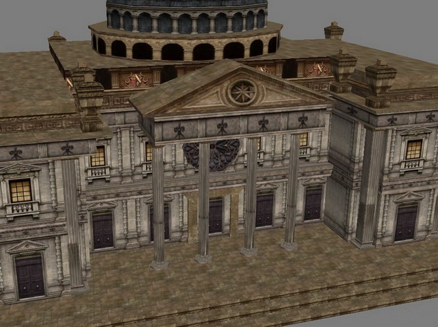 Old castle mansion 3d rendering
