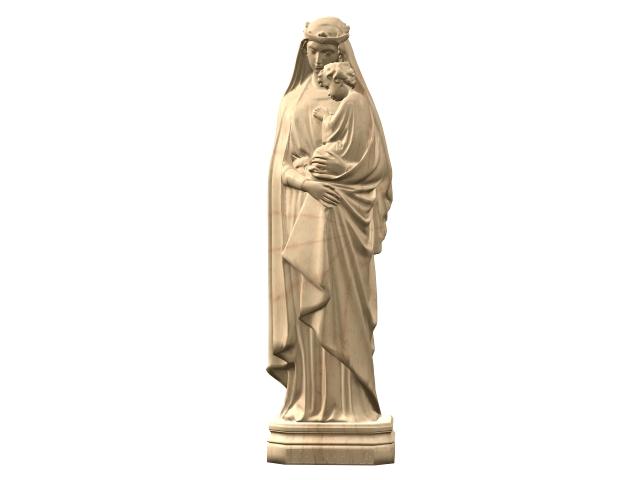 Statue of the Italian virgin 3d rendering