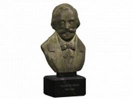 Bust of Giuseppe Verdi 3d model preview