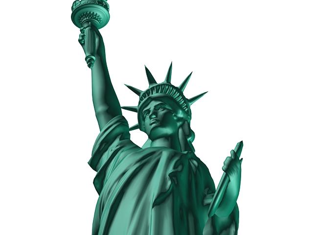 Statue of Liberty 3d rendering