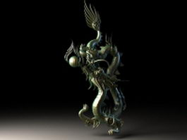 Chinese dragon sculpture 3d preview