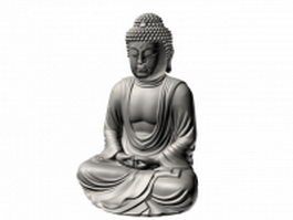 Japanese buddhist statue 3d preview
