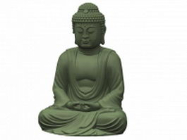 Chinese buddha statue 3d preview