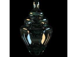 Gourd-shaped glass vase 3d model preview