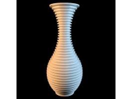 Tall white vase 3d model preview