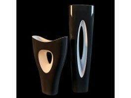 Modern vase set 3d model preview