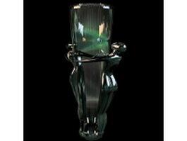 Vintage art glass vase 3d model preview