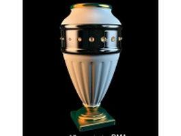Winning trophy vase 3d model preview