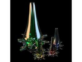 Glass vase centerpieces 3d model preview