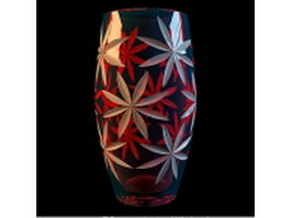 Patterned glass vase 3d model preview