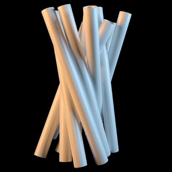 White pipe vase 3d rendering