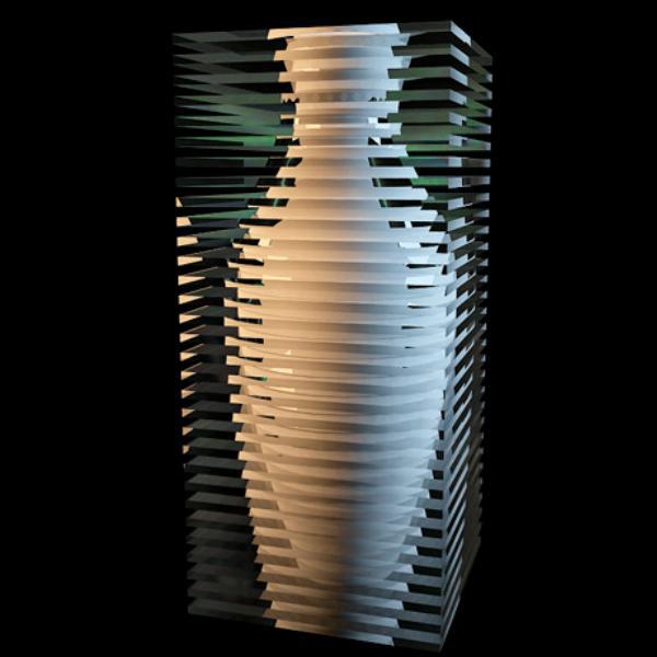Wonderful resin vase 3d rendering