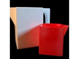Modern plastic cup vase 3d model preview