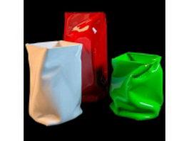 Crinkle bag vase 3d model preview