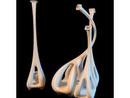 Abstract giraffe vase 3d model preview