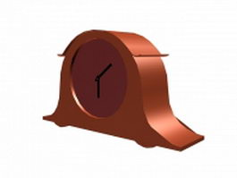 Low poly desk clock 3d preview