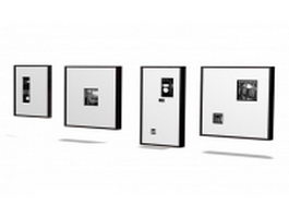 Wall picture frame 3d preview