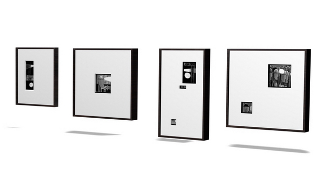Wall picture frame 3d rendering