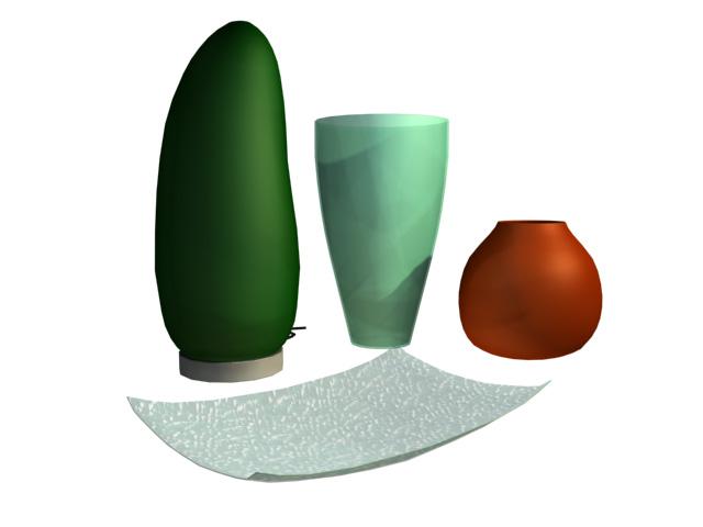 Pottery artware 3d rendering