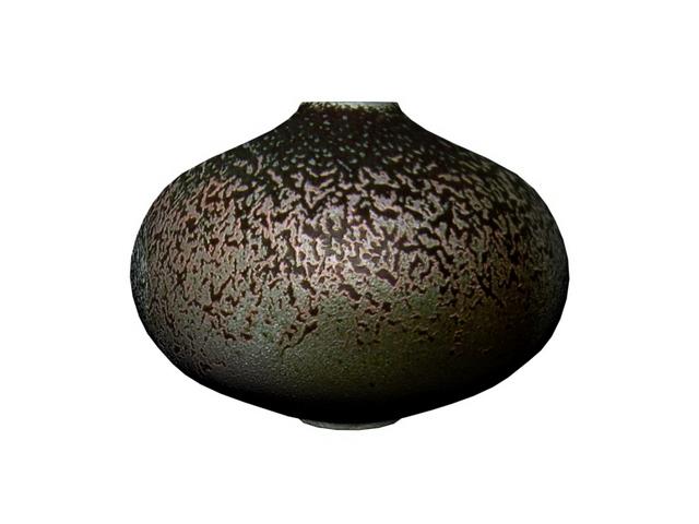 Decorative pottery rotund jar 3d rendering