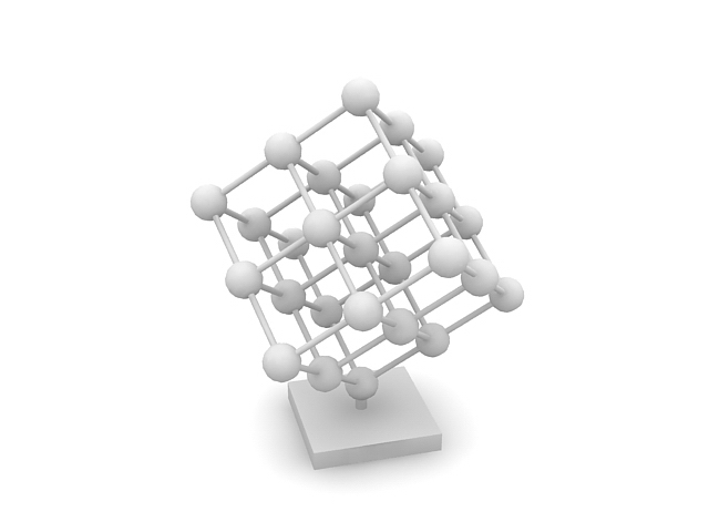 Structure of elements 3d rendering