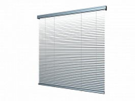 Horizontal blinds 3d preview