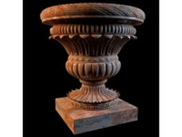 Outdoor garden vase 3d preview