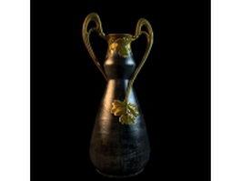 Vintage metal vase 3d model preview