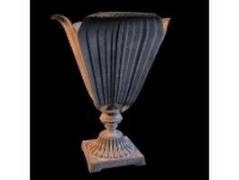 Vintage trophy vase 3d model preview