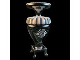 Antique floor vase 3d model preview